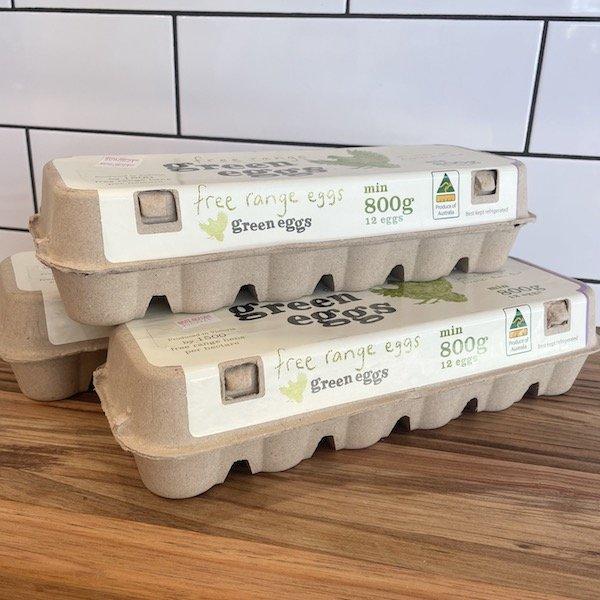 Free-range eggs from Green Eggs