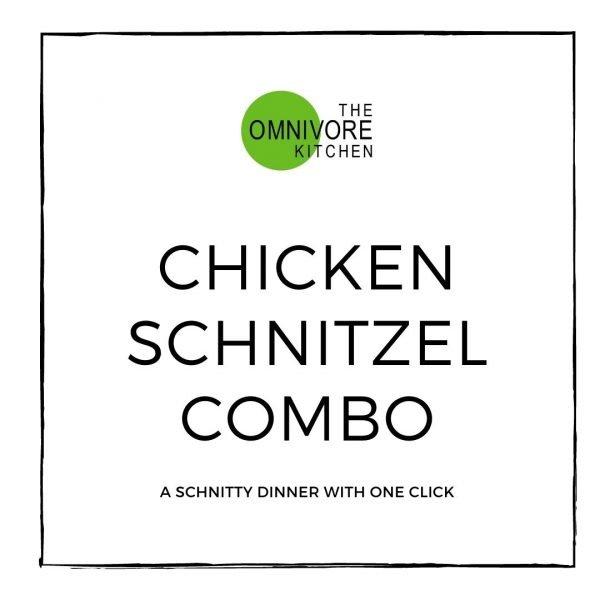 Chicken schnitzel combo meal deal