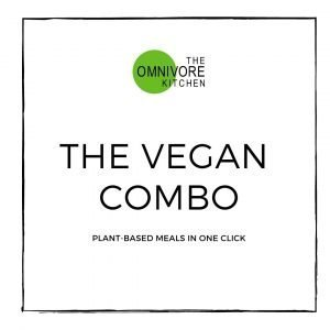 The vegan combo meal deal. Plant-based meals in one click